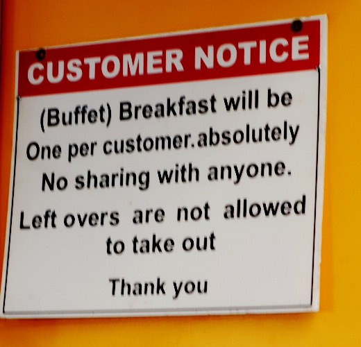 Customer Notice, Poor Grammar, misplaced punctuation