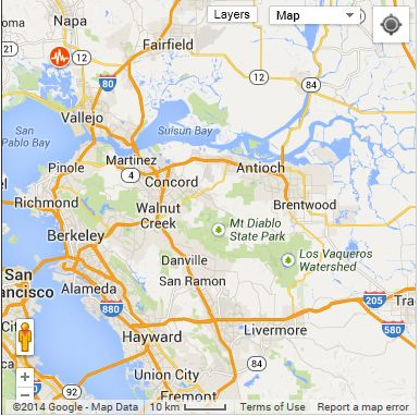 American Canyon Quake, Napa, California, 6.0 Earthquake, Earthquake Map
