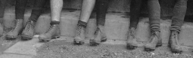 Old Football Cleats, 1920's Football Cleats, Old Football Picture, Sabetha Kansas, High School Football