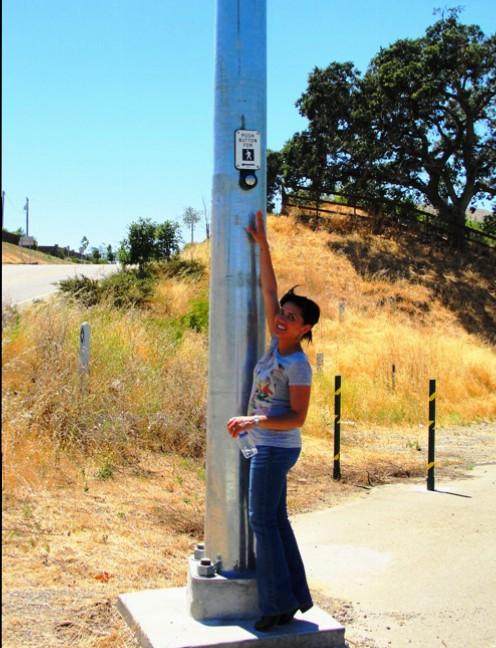 Push to Walk, Short Person, High Button, Horse Trail Walk Button, Livermore California