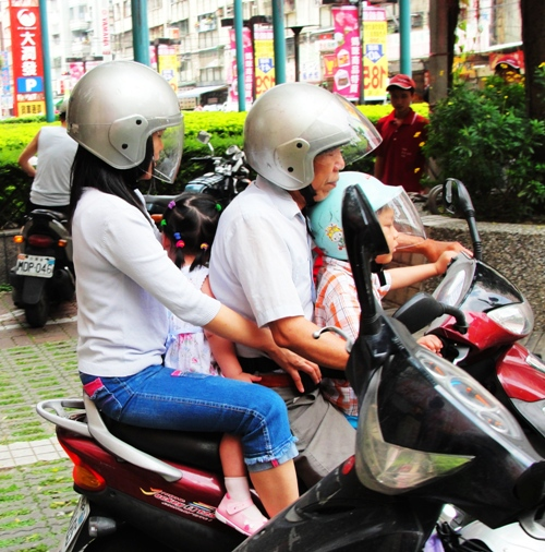Four Person Scooter, Family Vehicle, Taiwan, Taipei