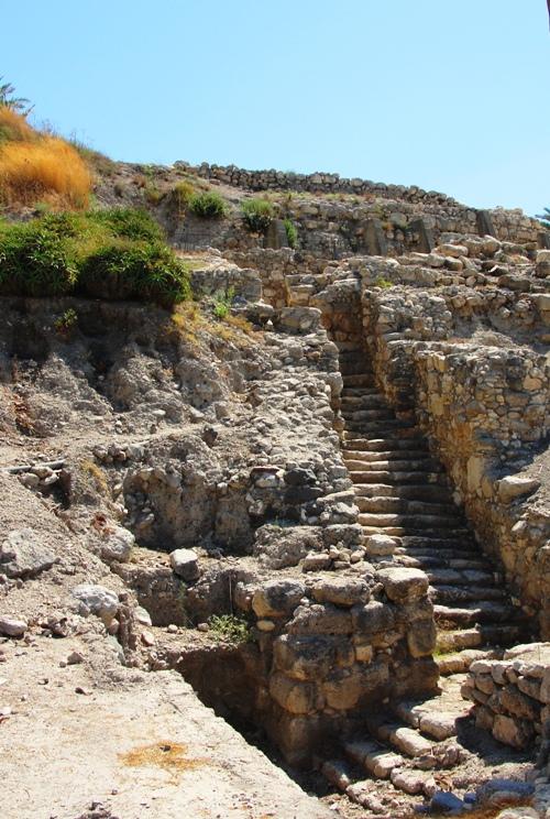 Tel Megiddo, Armageddon, Israel, Steps to Gate