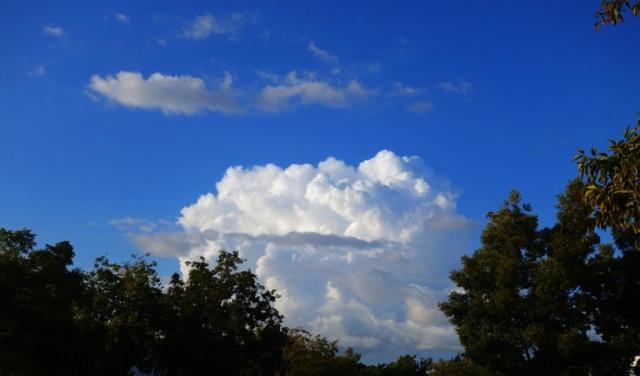 Thunderheads, autumn thunderstorm, thunderstorm, rain, stormy weather
