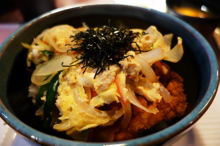 Katsu-Don, Katsu Bowl, Breaded pork cutlet, fried egg, onion, rice