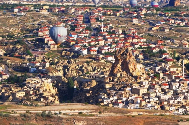 Ortahisar, Turkey, Cappadocia, Cave Hotels, Rock Castle