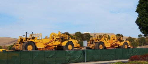 Earth Grading, Caterpillar, East County Justice Center, Construction Equipment