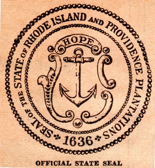 Rhode Island Seal, Rhode Island and Providence Plantations