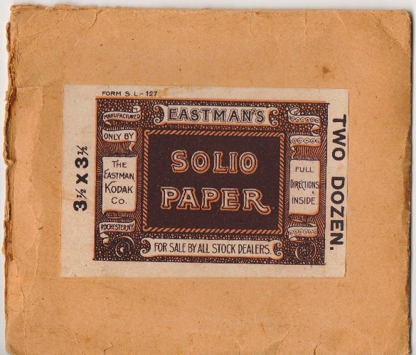 Eastman's Solio Paper, Eastman, Photography, Eastman Kodak, Picture Packet