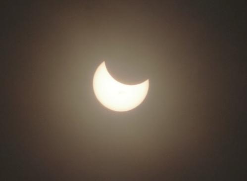 Partial Solar Eclipse, Picture of Eclipse, Solar Eclipse, Dark Filter