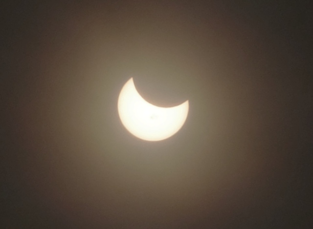 Partial Solar Eclipse, Picture of Eclipse, Solar Eclipse, Dark Filter