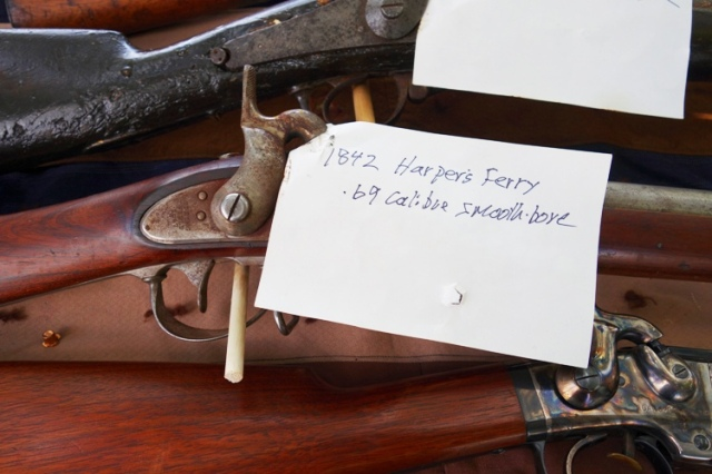 Civil War Gun, Harpers Ferry, 1842 Harpers Ferry, .69 Calibre Smooth Bore