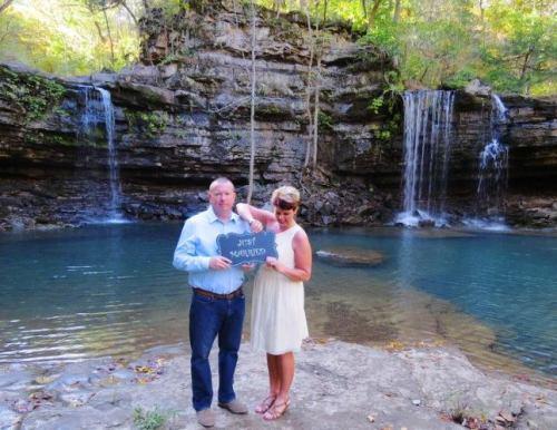 Scenic wedding, Richland Creek Wilderness, Twin Falls