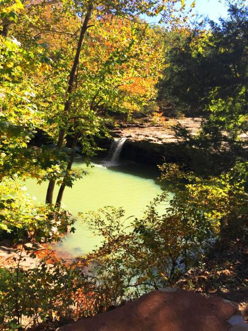 Falling Beauty Waterfall, Richland Creek Wilderness Area, Arkansas, Scenic Waterfall