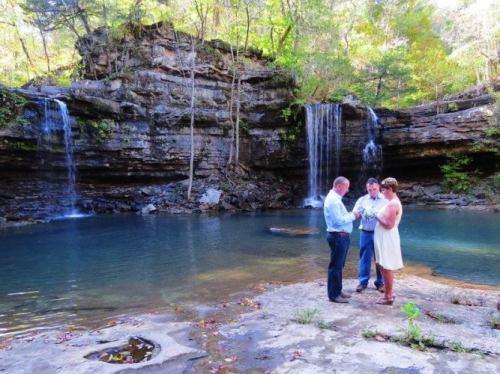Twin Falls, Devil's Fork, Scenic Wedding, Waterfalls