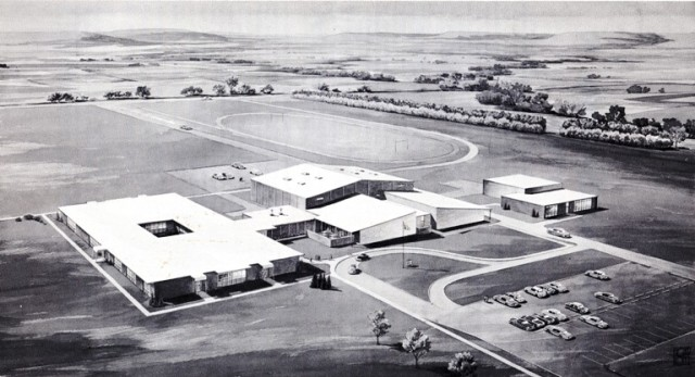 Ashland High School, Ashland Kansas, 1963, School Dedication, Architectural Drawing