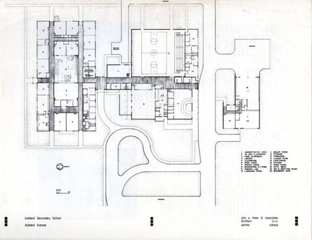Blueprints, John W. Hines and Associates, Ashland Kansas, Wichita Kansas