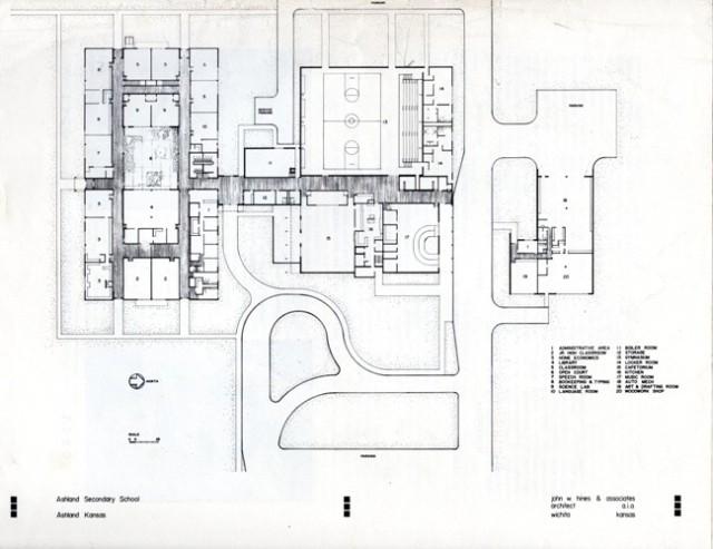 Blueprints, John W. Hines and Associates, Ashland Kansas, Wichita Kansas