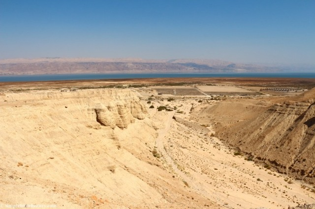 qumran Wadi, Simple Bible History, Trent and Rebekah Dutton, Exploring Bible Lands, Qumran