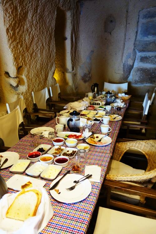 Queens Cave Hotel, Ortahisar, Cappadocia, Turkey, Breakfast, Turkish Dining