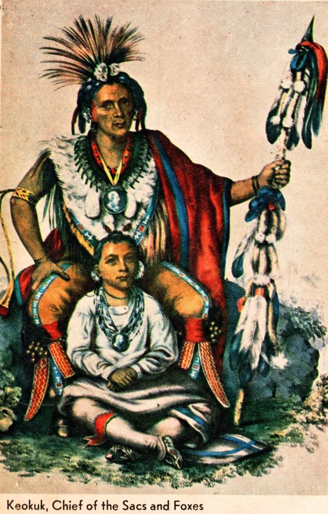 Charles Bird Kirklin, Chief Keokuk, Iowa History, Black Hawk War, Iowa, Native American