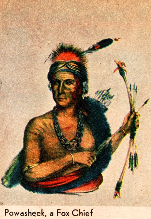Chief Powasheek, Powashiek County, Iowa, Grinnel, Native American Chief