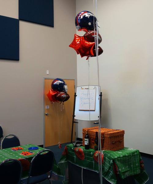 Retirement Gifts, Picnic Basket, Denver Bronco Decorations