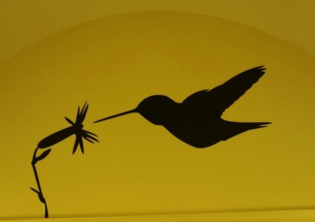 Rufus Hummingbird, Birds in Transit, Civic Art, Tracy Transit Station