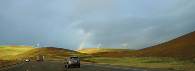 Rainbow, Altamont Hills, Green Hills, Windmills