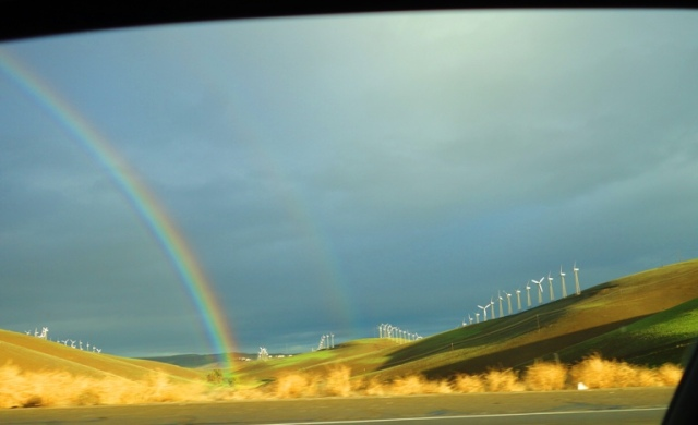 Rainbow, Altamont Hills, Rainy Day, Double Rainbow