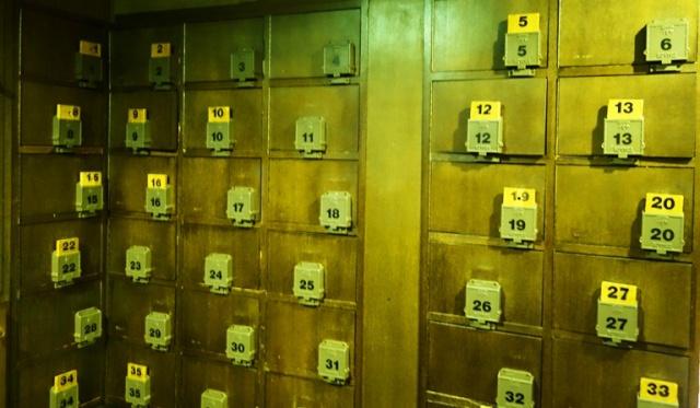 Shoe Lockers, Tokyo Japan, Wooden Keys, Storage Lockers