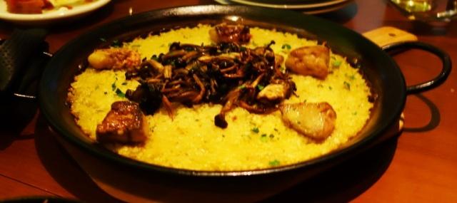 Spanish Food, Rice, Organ Meats, Mushrooms, Tokyo, Japan