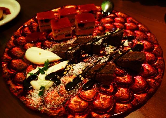 Dessert Platter, Chocolate Cake, Spanish Restaurant, La Boqueria, Yotsuya, Tokyo, Japan