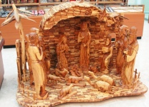 Olive Wood Nativity Scene, Bethlehem, Olive Wood Carving, Kado Store, Nativity