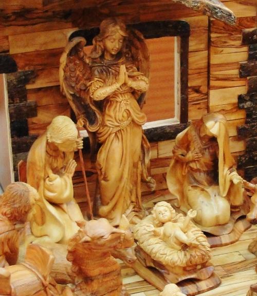 Olive Wood Nativity Scene, Kado Store, Bethlehem