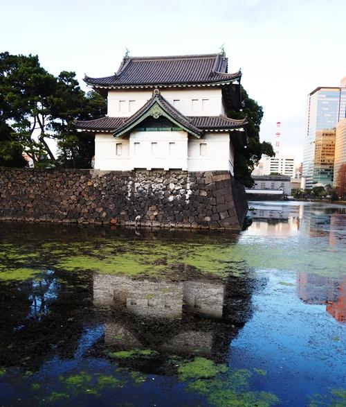 Tatsumi-yagura, Edo Castle, Tokyo, Keep, Reflections, Moat