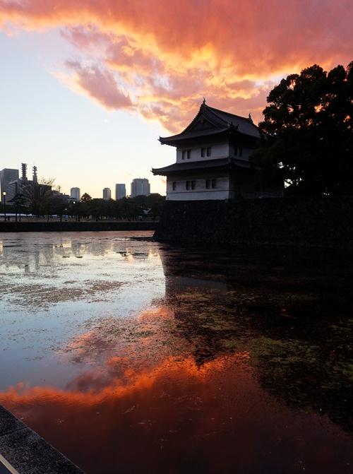 Tokyo Skyline, Sunset, Edo Castle, Tokyo, Tatsumi-yagura