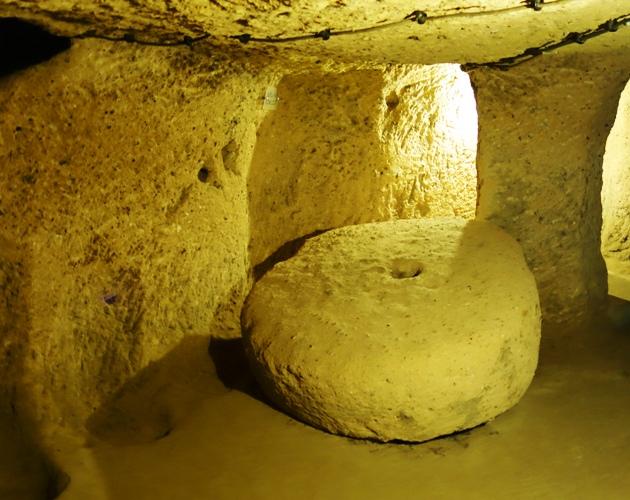 Underground City, Grinding Stone, Kaymakli Underground City, Nevsehir Province