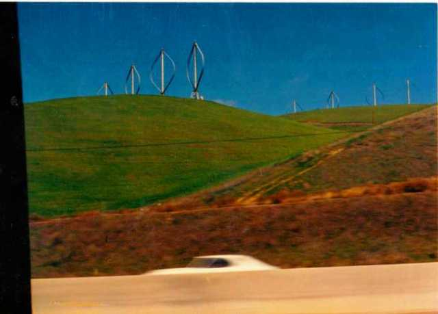 Altamont Pass, Bay Area, California, Windmills, Old Pictures