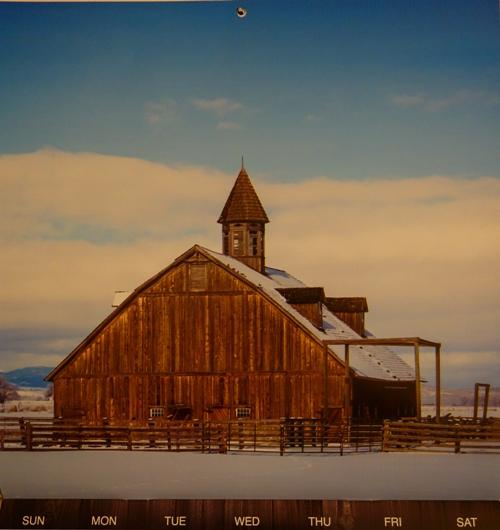 Barns Calendar, Barn Calendar, 2015 Calendar, Barn in Snow