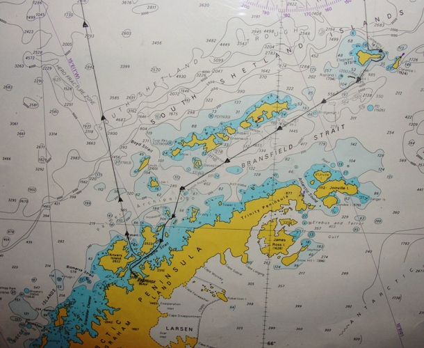 Antarctic Cruise, Celebrity Cruise, Infinity, Antarctic Peninsula, Map