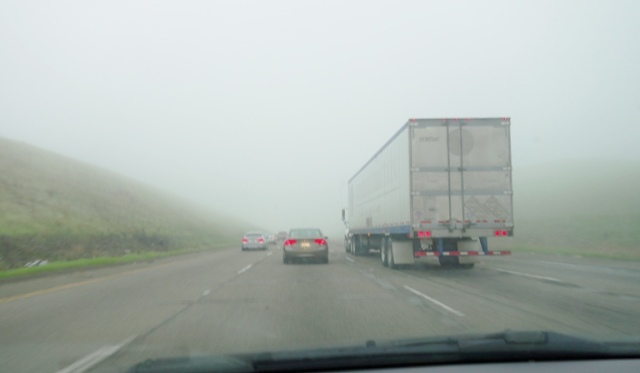Foggy Commute, Dense Fog, Weather, Altamont Pass