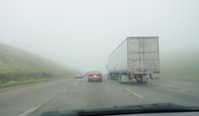 Foggy Commute, Dense Fog, Weather, Altamont Pass