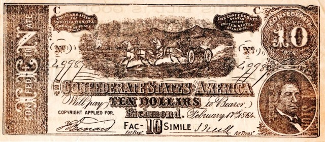 Confederate States of America, Richmond, Confederate Currency, Facsimile
