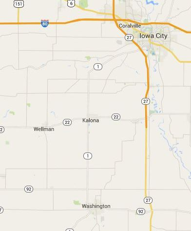 Wellman, Iowa, Kalona, Iowa City, Washington, Google Maps