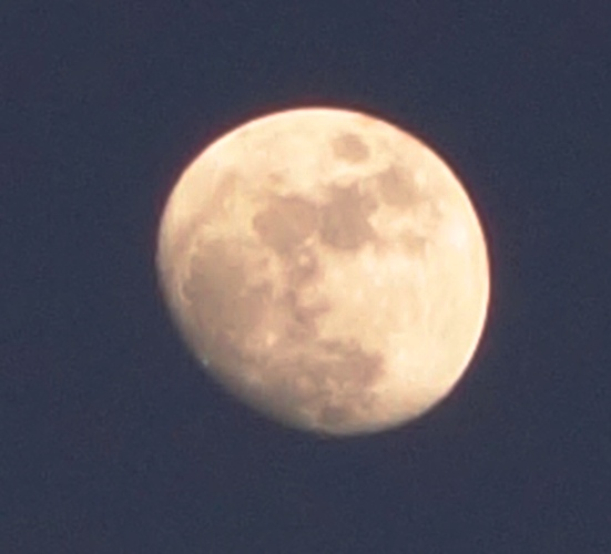 Snapshot of Moon, Almost Full Moon