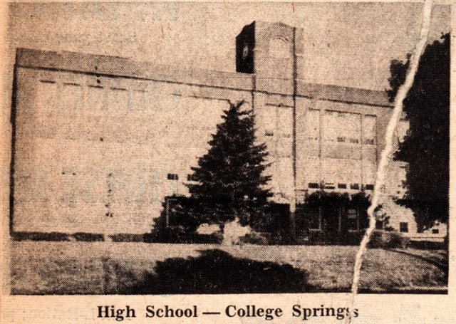 South Page Community Schools, College Springs Iowa, High School, Page County High School