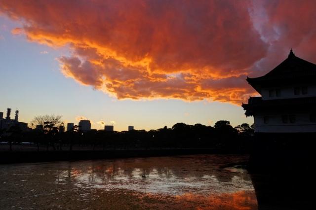 Sunset in Tokyo, Castle Moat, Edo Castle, Tatsumi-yaguara