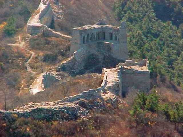 Ruins of the Great Wall of China, Badaling, Un-reconstructed wall