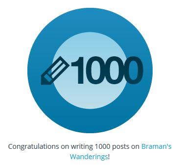 Word Press, 1000 posts, Blog Badges, Post Count, Blog Stats