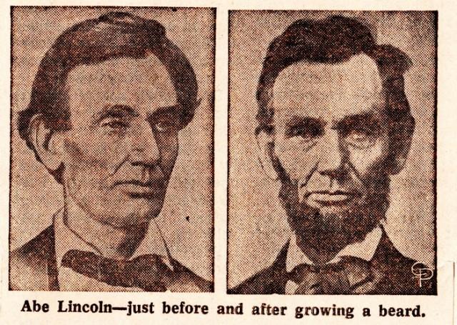 Abraham Lincoln, Beard, Grace Bedell, Lincoln's Beard